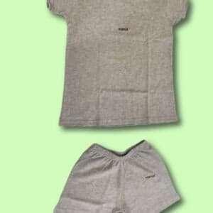 Grey T-shirt and Shorts Pant For Baby Set