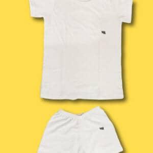 White Baby Set Dresses T-shirt and Shorts