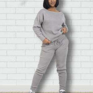 Deep Grey Women Fashionable Design Tracksuits BD