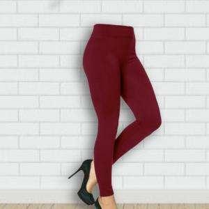 Deep Red High Waist Girls Leggings