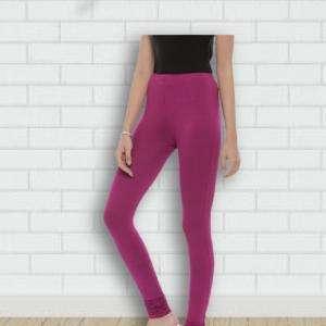 Export Quality Cotton Elastane Berry Colour Girls Leggings