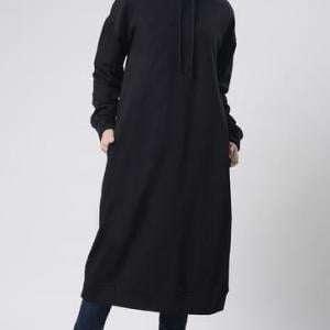 High Quality Navy Blue Winter Season Fleece Hoodie For Girls
