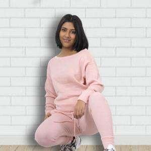 Light Pink Export Quality Women Cotton Tracksuits Bangladesh