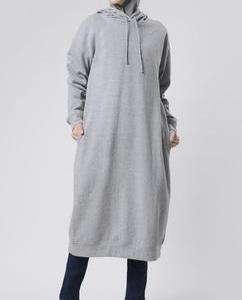 Winter Season Girls Long Sleeve Grey Hoodie With Pocket